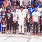 Gov. Diri Rewards Victorious Female Handball Team